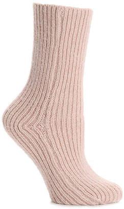Lemon Ribbed Crew Socks - Women's