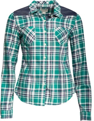 58d296e3572e at MandMDirect.com · Converse Womens Trilla Slim Fit Checked Long Sleeve  Shirt Alpine Green