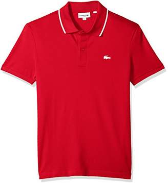 Lacoste Men's Short Sleeve Semi Fancy Stretch Pique Slim Polo