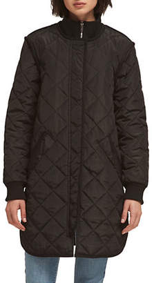 DKNY Quilted Mock Neck Jacket