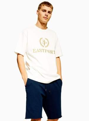 Topman Navy Long Jersey Shorts