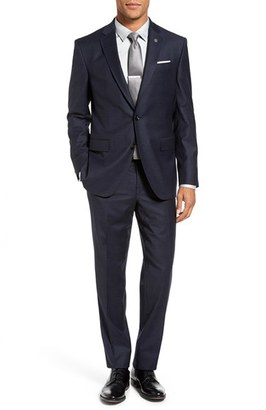Men's Ted Baker London Jay Trim Fit Stretch Plaid Wool Suit $895 thestylecure.com
