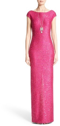 Women's St. John Evening Sequin Knit Column Gown $1,595 thestylecure.com