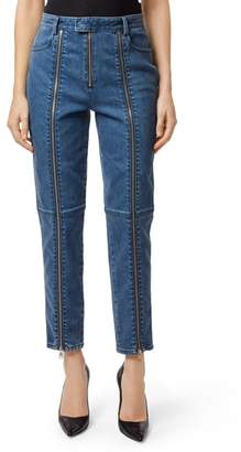 J Brand Connie High Waist Zip Ankle Straight Leg Jeans