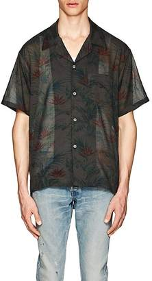 John Elliott Men's Hawaiian-Print Cotton Voile Shirt