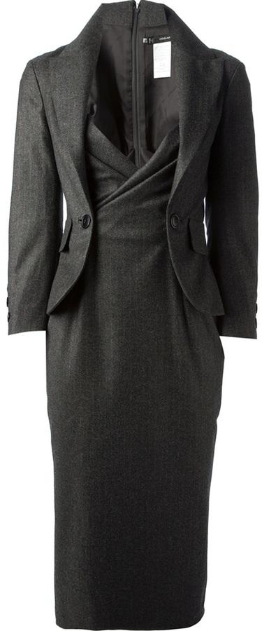 DSquared Dsquared2 pinstripe blazer dress
