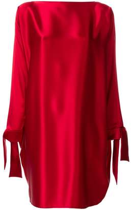 Gianluca Capannolo tie cuff shift dress