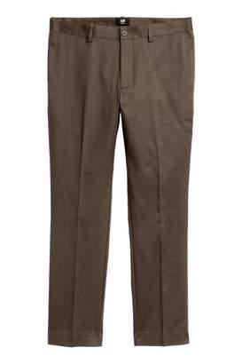 H&M Cotton Pants Slim fit - Light beige - Men
