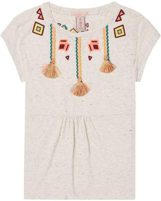 Scotch & Soda Embroidered Jersey Top