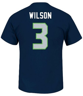 NFL Seattle Seahawks R Wilson Men's Short Sleeve Athletic Ring Spun Player Jersey T-Shirt $24.99 thestylecure.com
