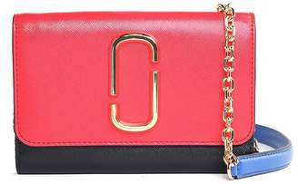 Marc Jacobs Snapshot Chain Wallet Color-blocked Saffiano-leather Cross-body Bag