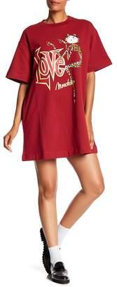 Love Moschino Abito Overman Sweatshirt Dress