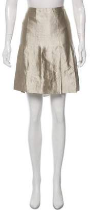 Etro Pleated Metallic Skirt