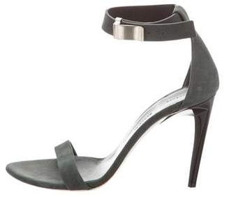 Proenza Schouler Nubuck Ankle Strap Sandals