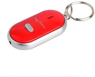 Pureaid LED Anti Lost Key Finder KeyChain with Whistle Sound - Red