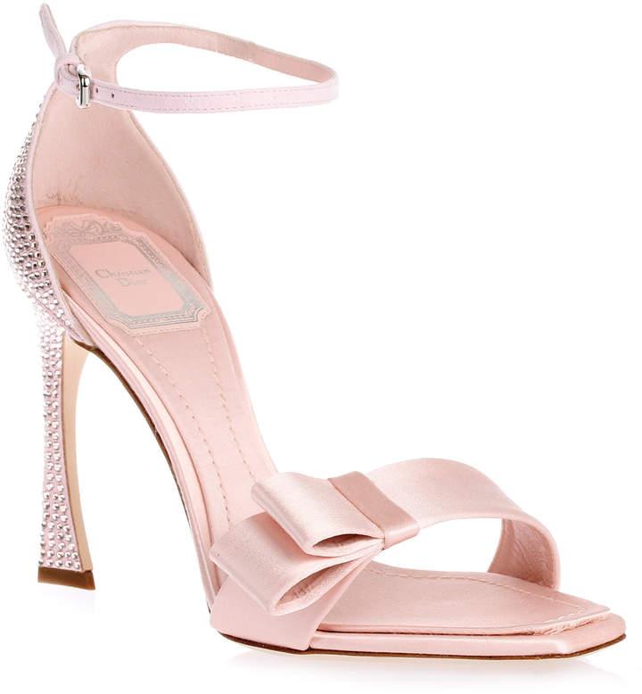 Dior Desir 100 pink suede/satin sandal