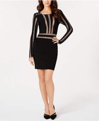 GUESS Metallic-Stripe Sweater Dress