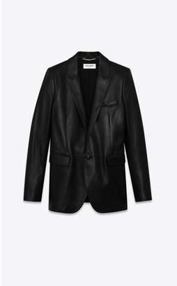 Saint Laurent Leather Suit Jacket