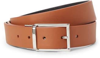 Jil Sander Brown & Black Leather Reversible Belt
