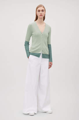 Cos DOUBLE-LAYERED CARDIGAN