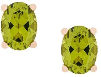 Delfina Delettrez 18kt champagne gold Dots Solitaire peridot stud earrings