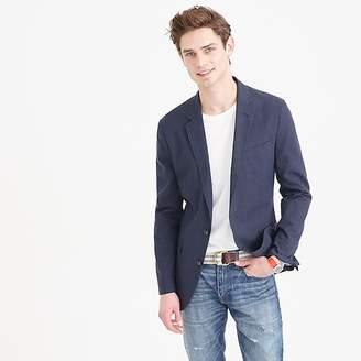 Unstructured Ludlow cotton-linen blazer in coastline navy $168 thestylecure.com