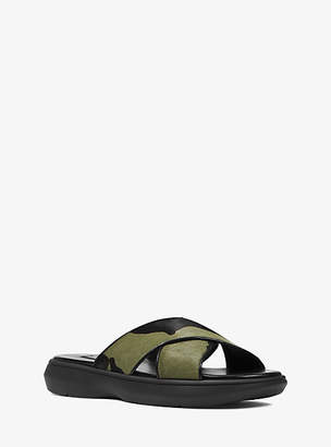 Michael Kors Daphne Camo Calf Hair Slide