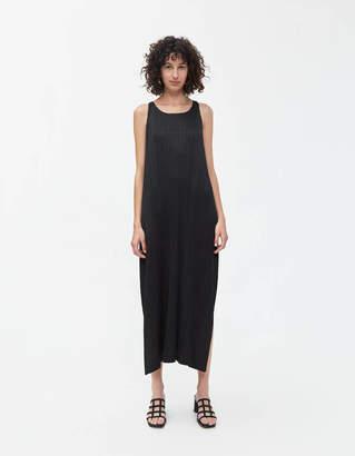 Pleats Please Issey Miyake Wrap Back Dress in Black