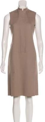 Calvin Klein Collection Wool-Blend Casual Dress Beige Wool-Blend Casual Dress