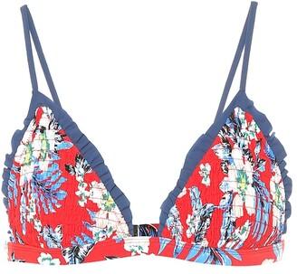 Diane von Furstenberg Ruffle-trimmed bikini top