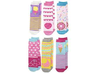 Jefferies Socks Sweet Treats Crew 6-Pack (Toddler/Little Kid/Big Kid)
