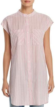 Velvet Heart Paige Striped Button-Down Tunic