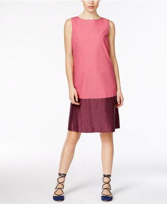 Weekend Max Mara Temide Colorblocked Poplin Shift Dress $350 thestylecure.com