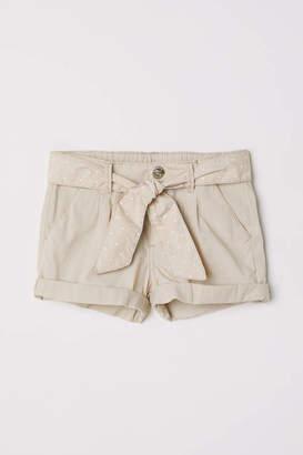 H&M Cotton Shorts with Belt