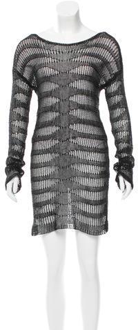 Alexander WangAlexander Wang Open Knit Scoop Neck Dress