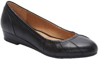 Me Too Leather Sliver Low Wedges - Marcie