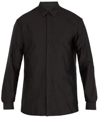Haider Ackermann - Polka Dot Jacquard Silk Blend Shirt - Mens - Grey