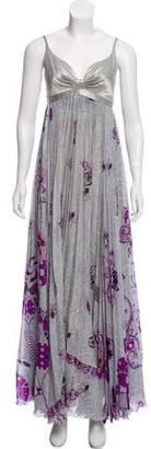 Emilio Pucci Abstract Print Silk Maxi Dress