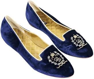 Dolce & Gabbana Blue Velvet Ballet flats