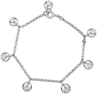 Diamonique Sterling 1.75cttw Dangle Charm Brace let