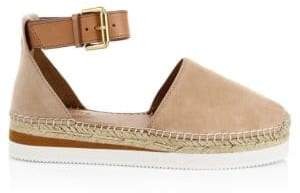 See by Chloe Glyn Leather Flat Espadrilles