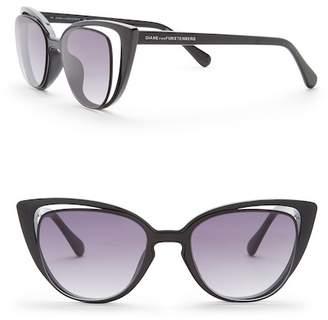 Diane von Furstenberg Women's Cat Eye 50mm Acetate Frame Sunglasses