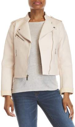 BCBGeneration Blush Faux Leather Moto Jacket