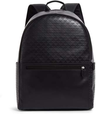 Emporio Armani Eagle-Embossed Leather Backpack