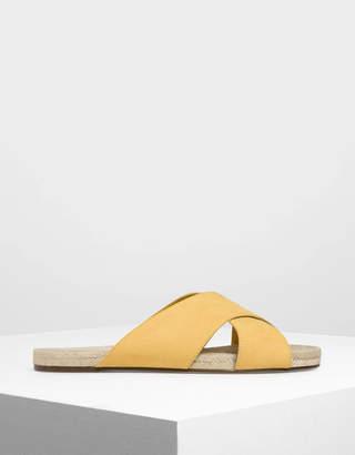 Charles & Keith Criss Cross Slide Sandals