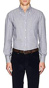Brunello Cucinelli MEN'S STRIPED COTTON BUTTON-DOWN SHIRT