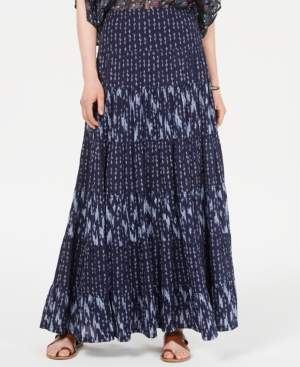 Style&Co. Style & Co Mixed-Print Tiered Maxi Skirt, Created for Macy's