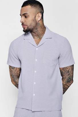 boohoo Check Revere Short Sleeve Shirt Co-ord