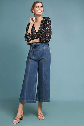 Pilcro and the Letterpress Pilcro Ultra High-Rise Cropped Wide-Leg Jeans