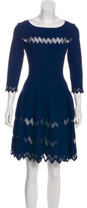 Alaia Mesh-Accented Mini Dress